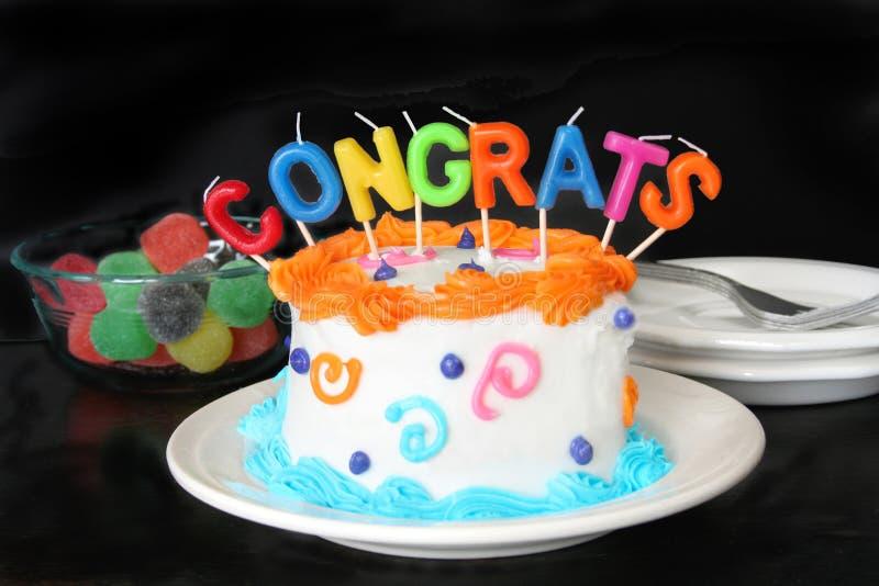 поздравление торта стоковое фото