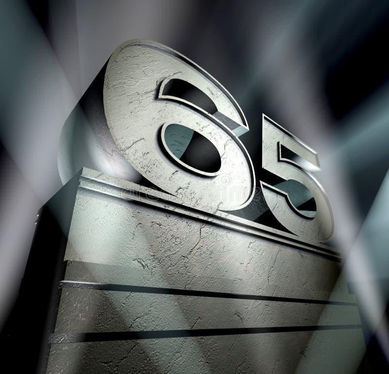 поздравление 65 стоковое изображение