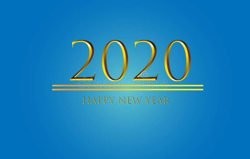 Поздравляем с Новым Годом 2020 Graphics Background Wallpaper Greeting иллюстрация вектора