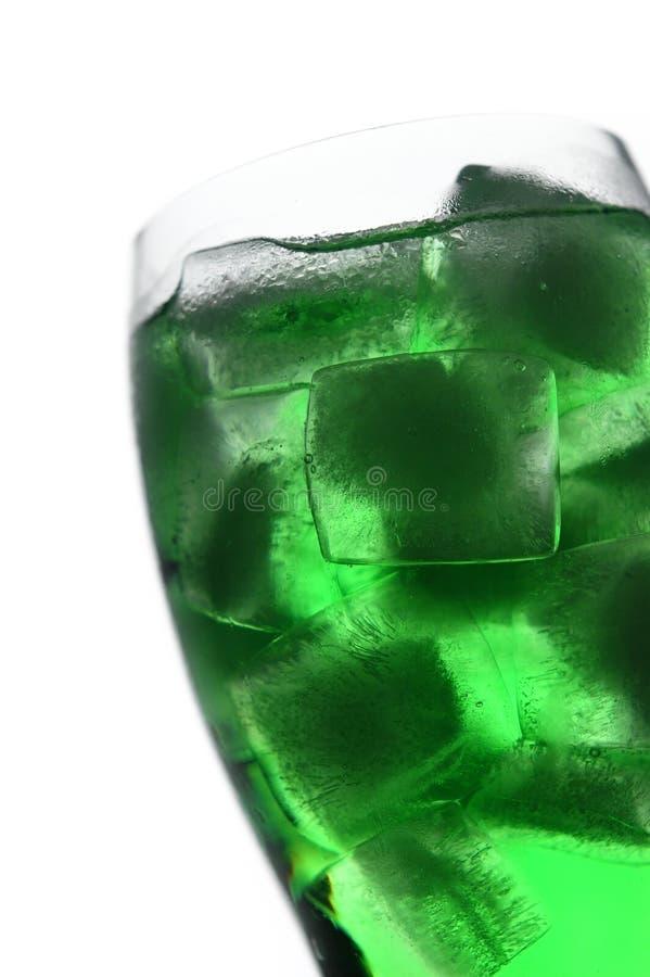 позеленейте льдед стоковое изображение