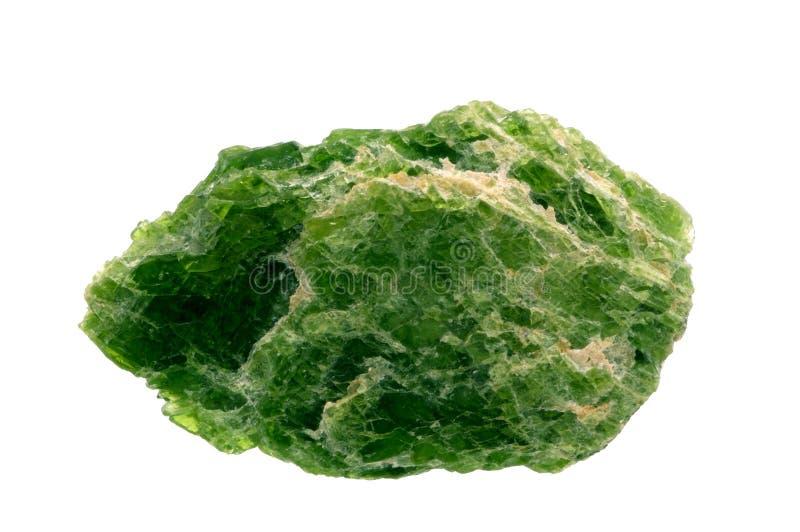 позеленейте минеральный камень