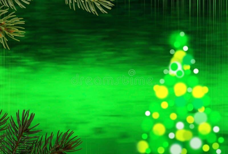 Позеленейте предпосылку рождества стоковое фото rf
