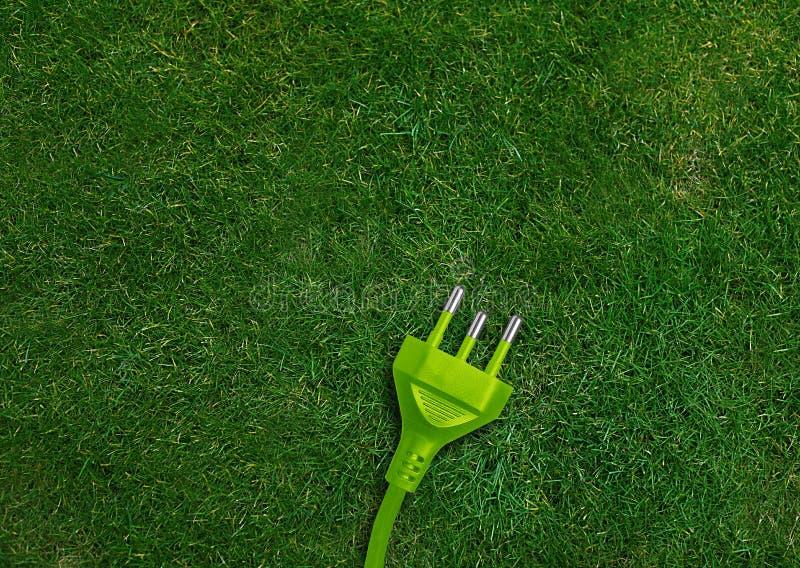 Позеленейте принципиальную схему энергии стоковое фото