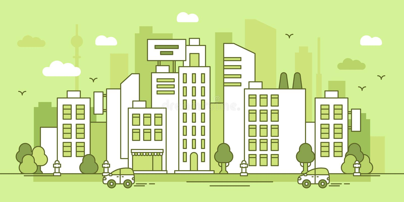 Позеленейте город стоковая фотография rf