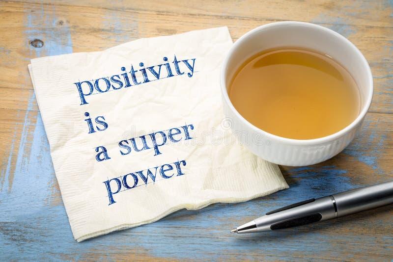 Позитивность сверхдержава стоковые фото