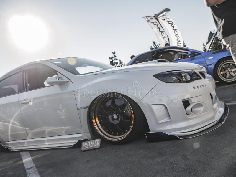 Позиция воюет - Сиэтл - Subaru стоковые фотографии rf