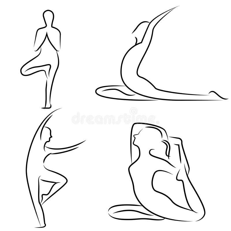 Позиция йоги иллюстрация штока