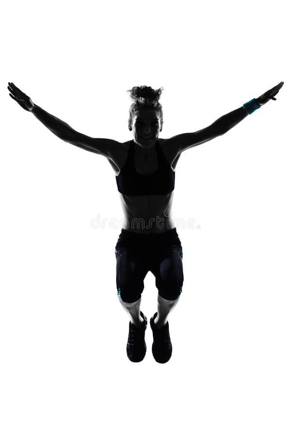 Позиция пригодности разминки женщины стоковое изображение