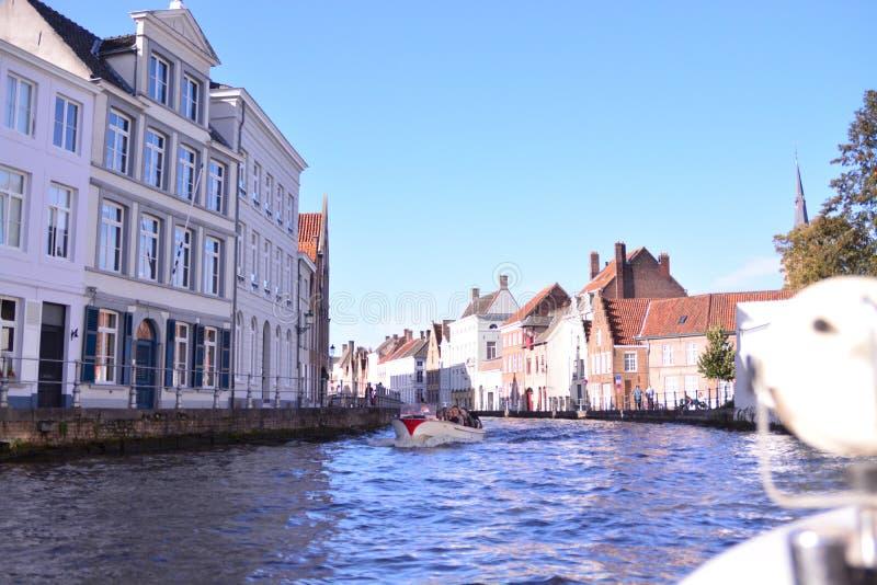 Позыв посетить Брюгге - Бельгию стоковое фото