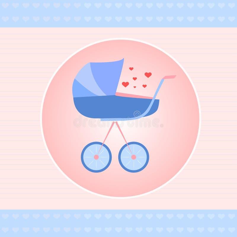 Поздравительая открытка ко дню рождения младенца бесплатная иллюстрация