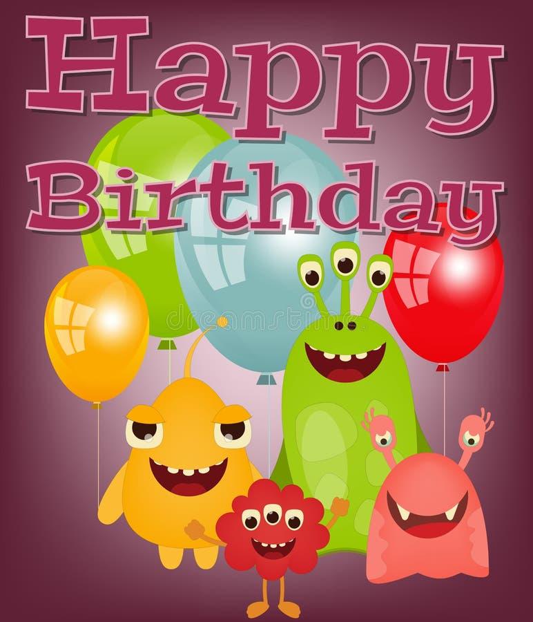 поздравительая открытка ко дню рождения счастливая бесплатная иллюстрация