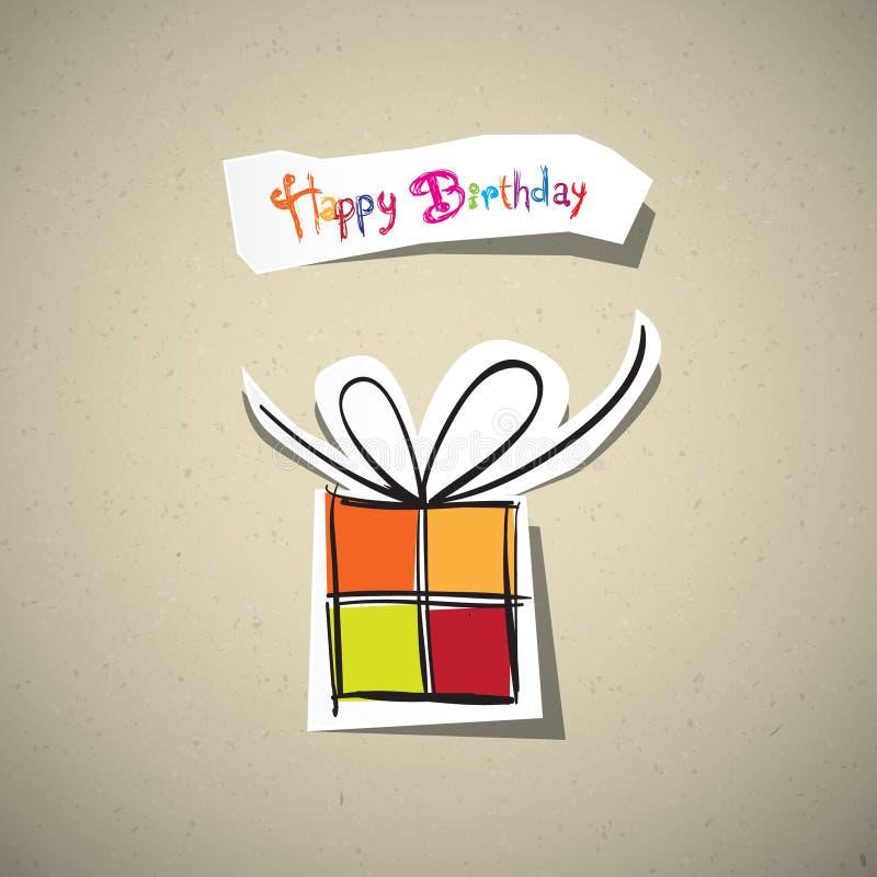Поздравительая открытка ко дню рождения с днем рождений иллюстрация штока