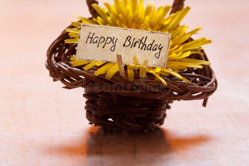 Поздравительая открытка ко дню рождения стоковое фото rf