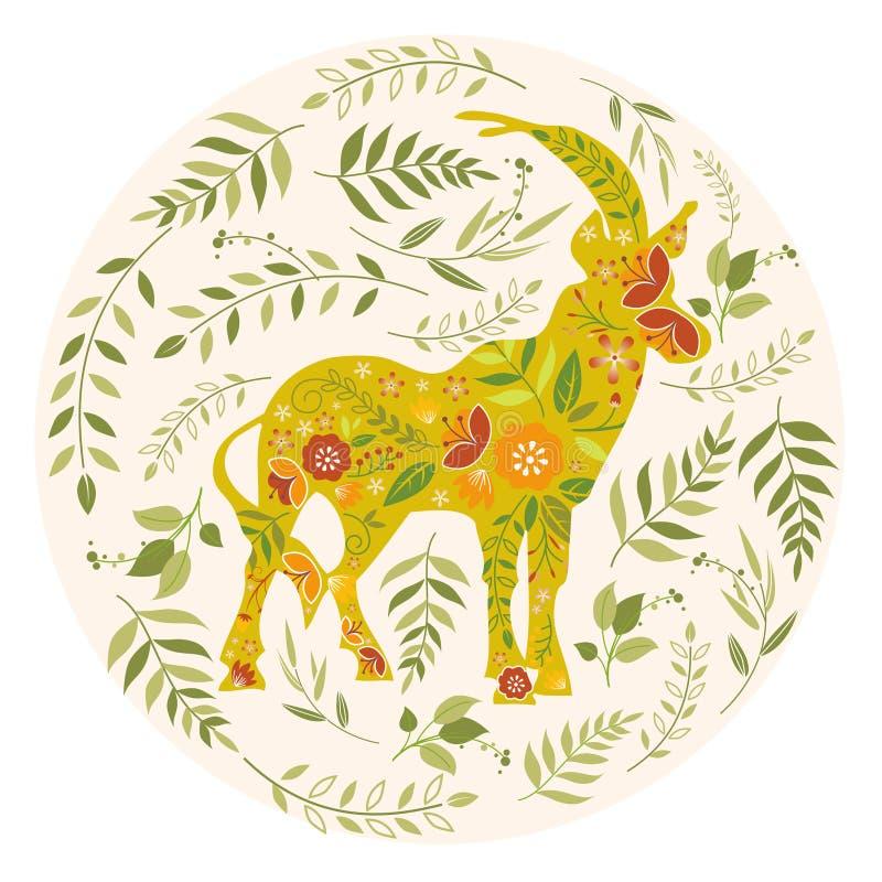 Поздравительная открытка весны иллюстрация штока