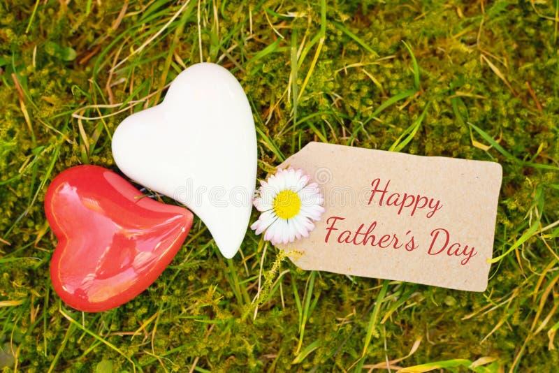Поздравительная открытка - день отцов стоковые фотографии rf