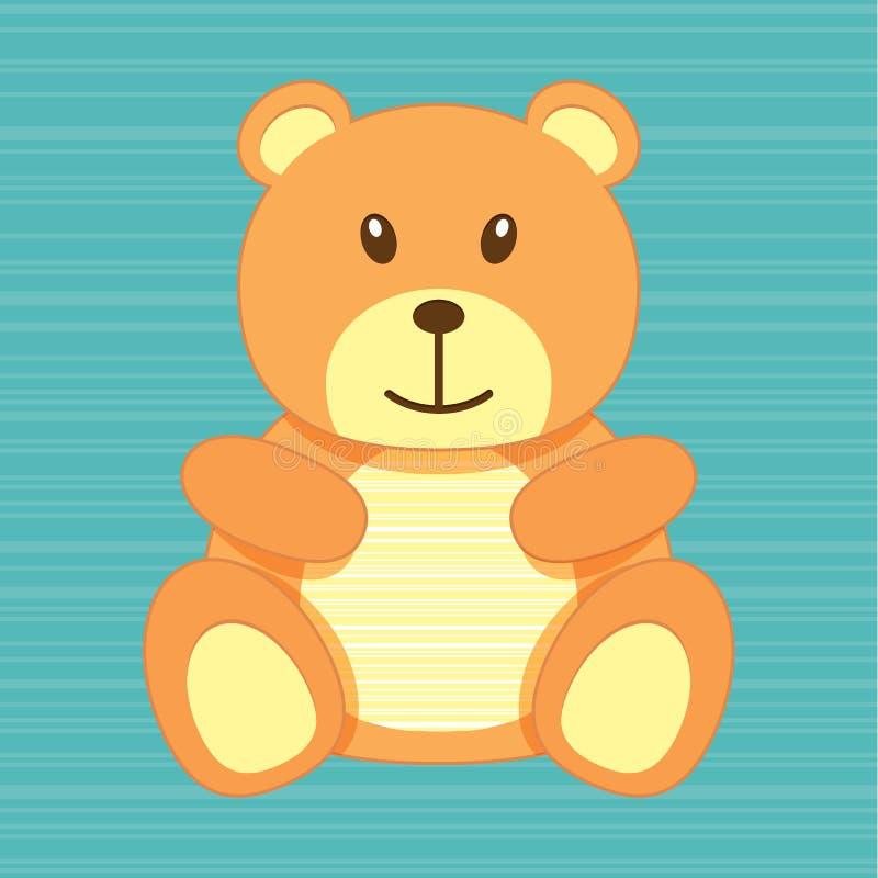 Поздравительная открытка медведя иллюстрация штока