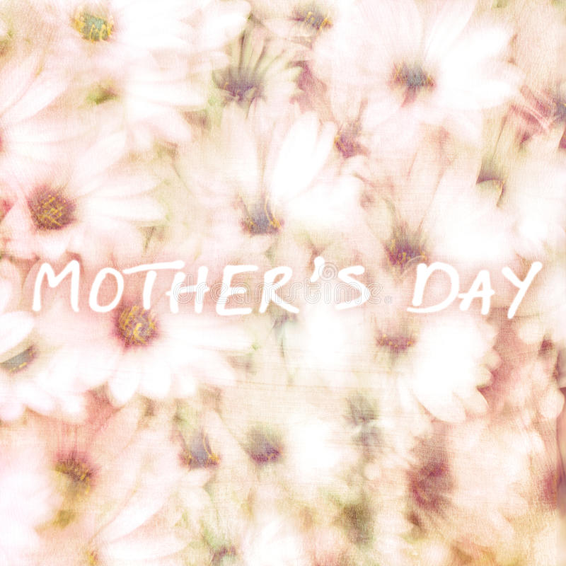 Поздравительная открытка на день матерей стоковая фотография