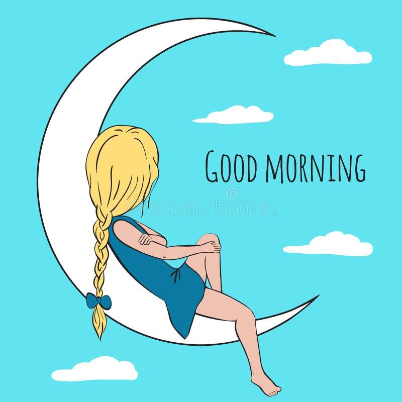 Поздравительная открытка доброго утра бесплатная иллюстрация