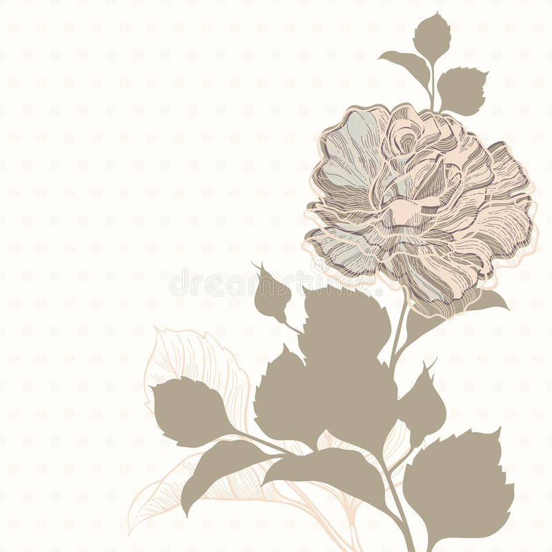 Download Поздравительная открытка приглашения или с подняла Иллюстрация штока - иллюстрации насчитывающей текстура, приглашение: 37926028