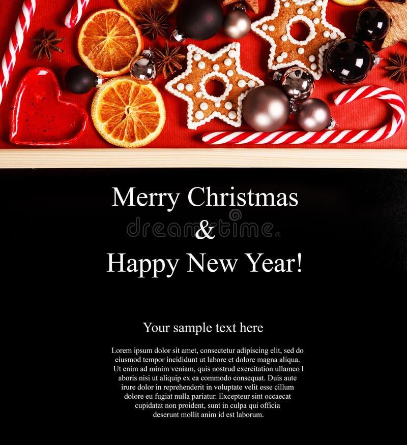 Поздравительная открытка рождества с copyspace стоковые фото