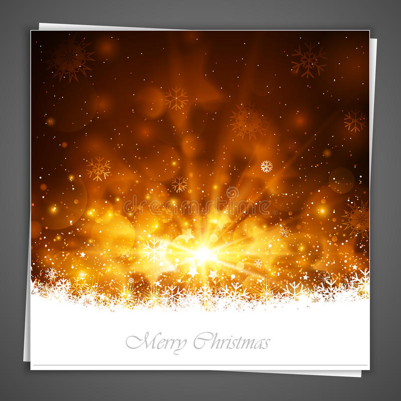 Поздравительная открытка рождества бесплатная иллюстрация