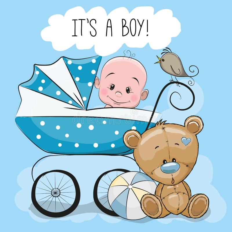 Поздравительная открытка своя мальчик бесплатная иллюстрация