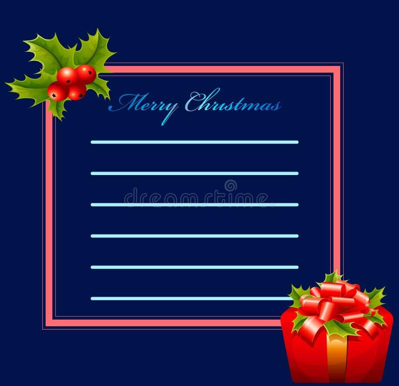 Поздравительная открытка - с Рождеством Христовым стоковое фото rf