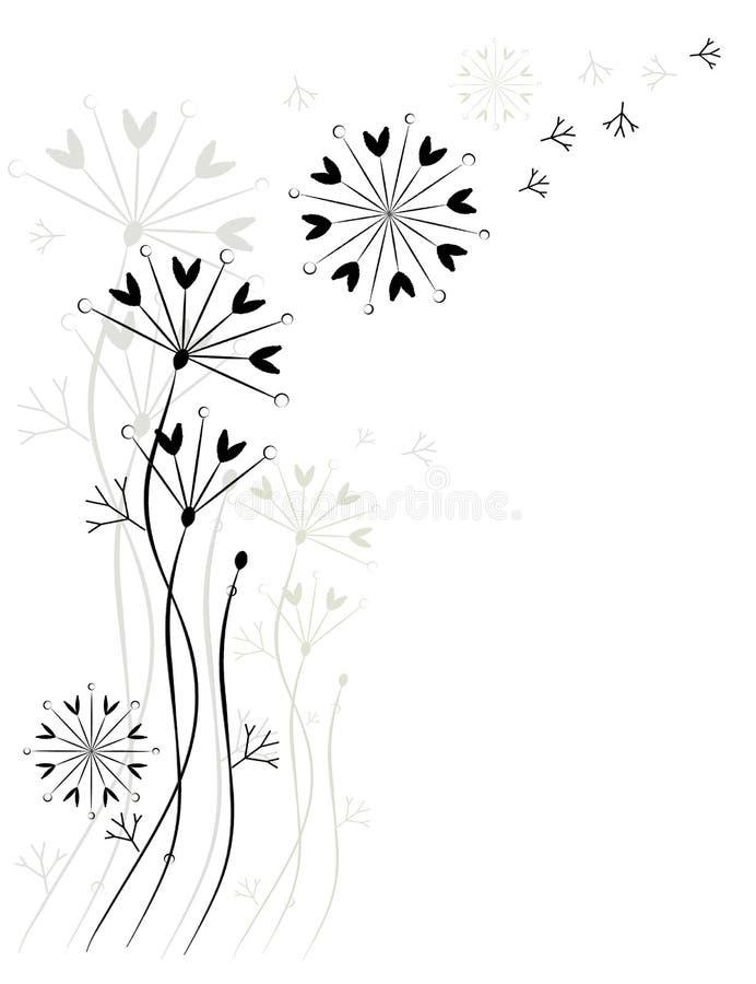 Поздравительная открытка, цветки. иллюстрация вектора