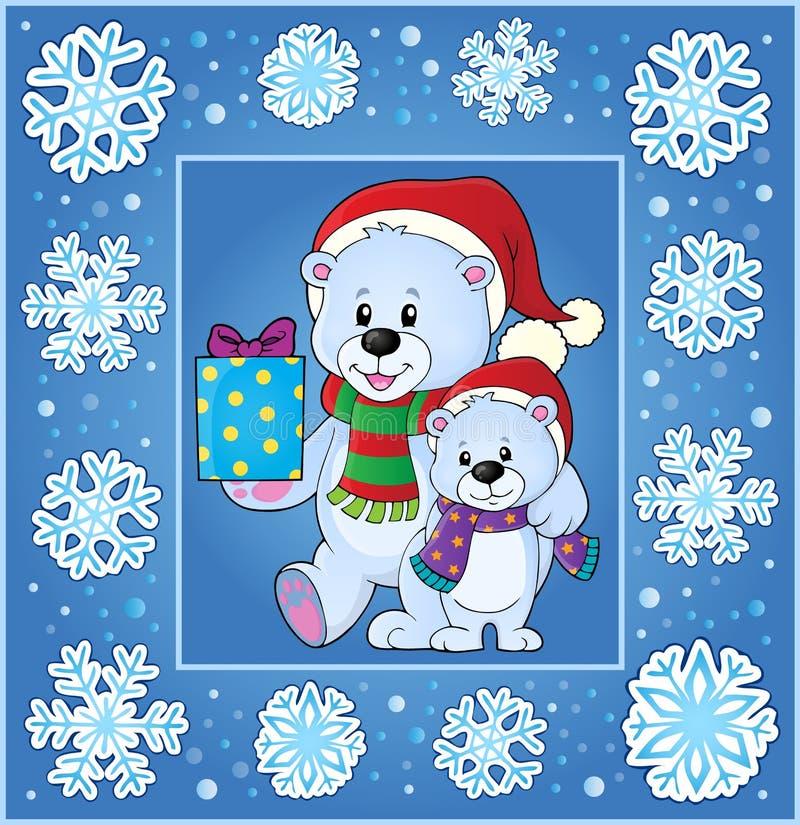 Поздравительная открытка 1 thematics рождества иллюстрация вектора