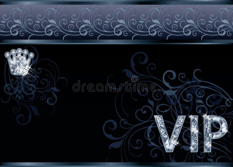 Поздравительная открытка VIP диаманта иллюстрация вектора