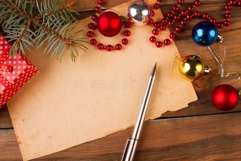 Поздравительное письмо с Новым Годом стоковое изображение