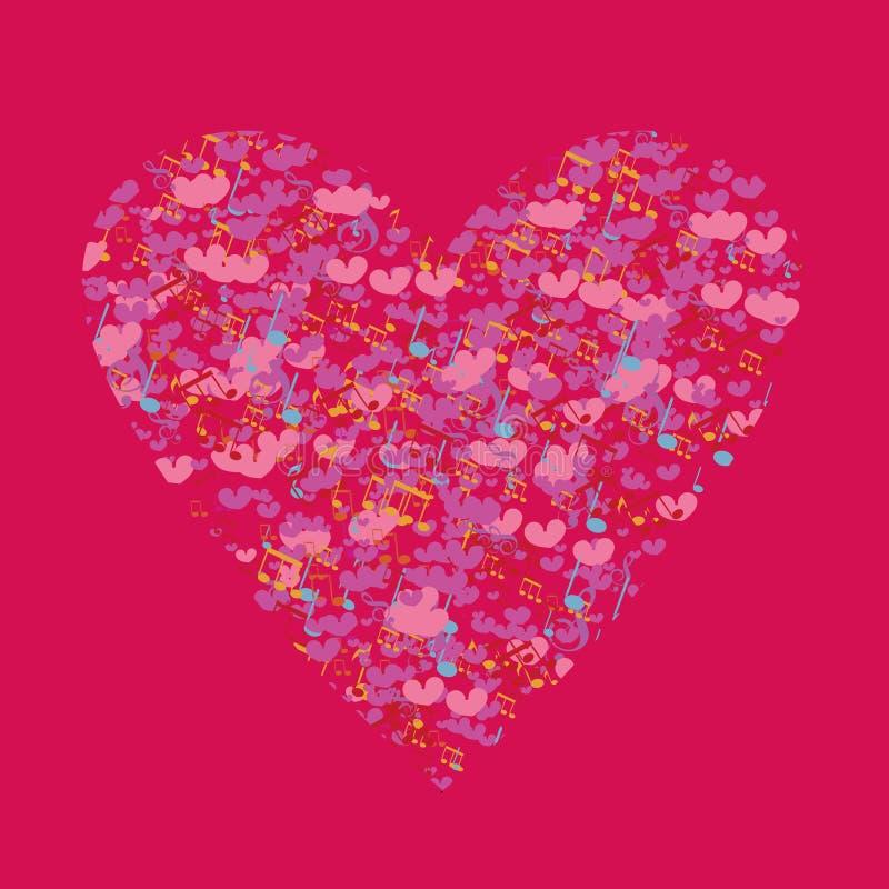 Поздравительные открытки валентинки шаблона бесплатная иллюстрация