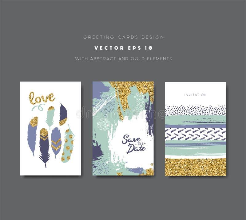 Поздравительные открытки иллюстрация вектора