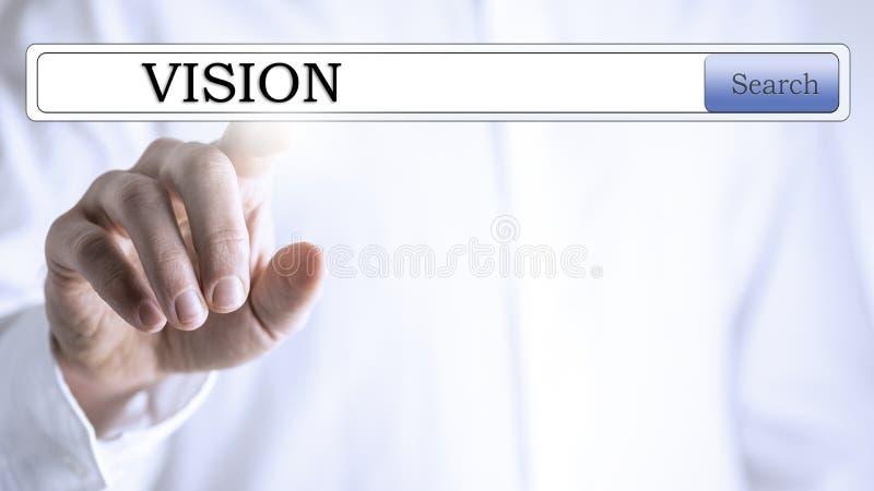 Поиск в базе данных зрения стоковое изображение rf