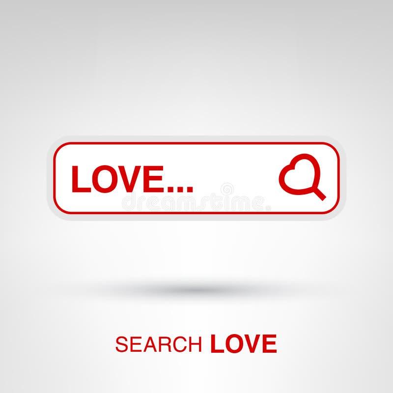 Поиск влюбленности иллюстрация вектора