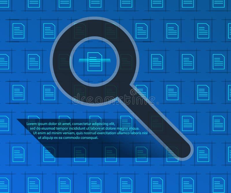 Поиск информации, технология предпосылки Определение графического файла иллюстрация штока