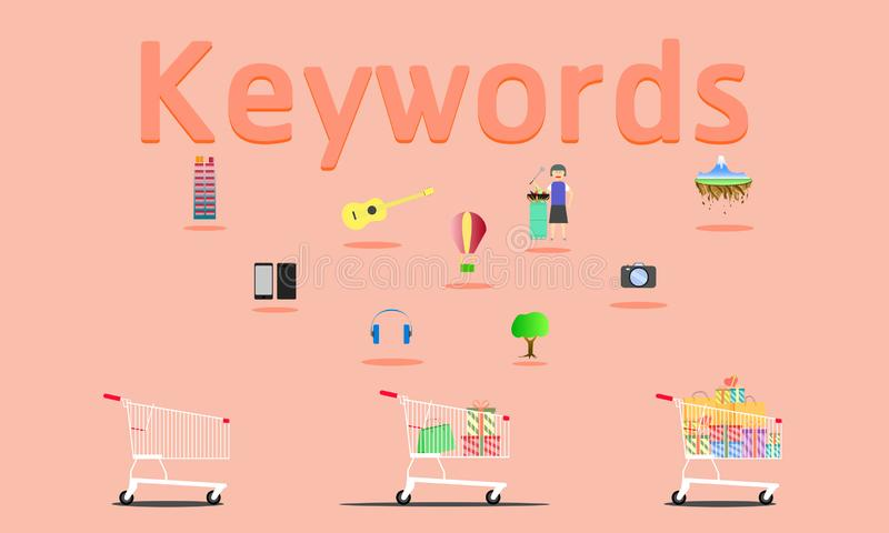 Поиск по ключевому слову по всему миру что-нибудь иллюстрация eps10 вектора бесплатная иллюстрация