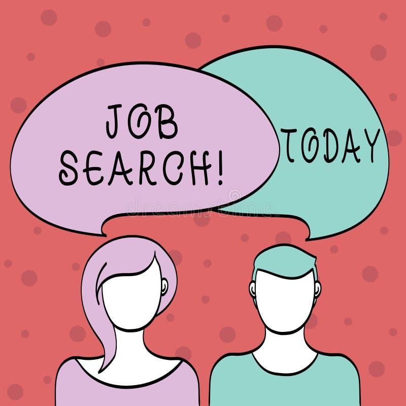 Поиск работы текста сочинительства слова Концепция дела для поступка искать занятость должного к underemployment безработицы иллюстрация штока