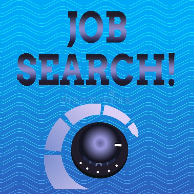 Поиск работы текста сочинительства слова Концепция дела для поступка искать занятость должного к underemployment безработицы иллюстрация вектора