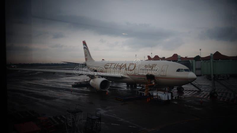 Пойдите к самолету! стоковое изображение