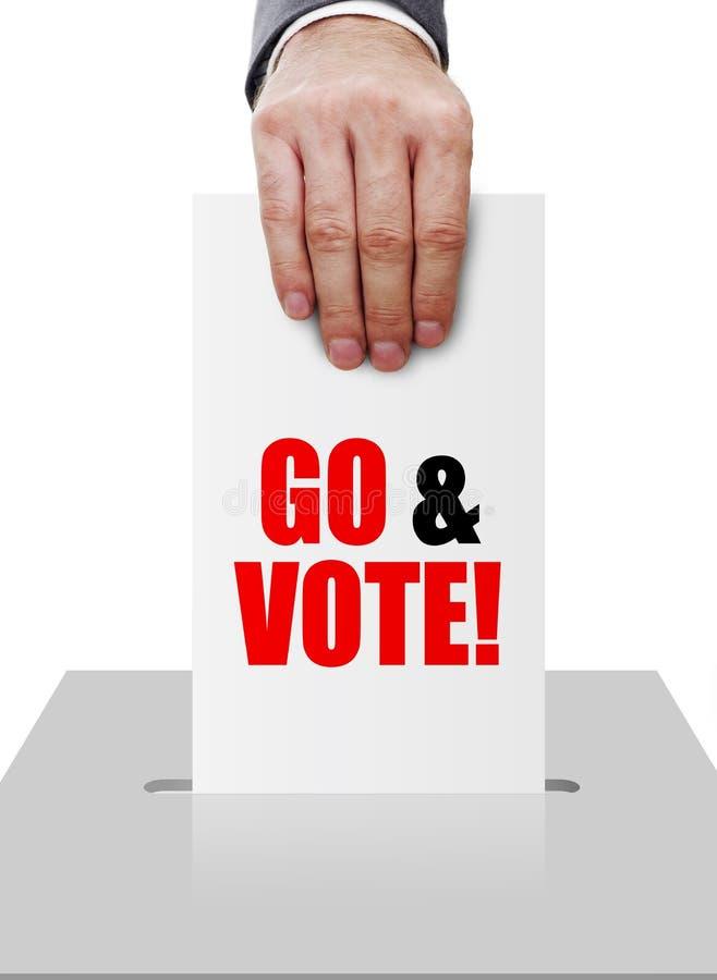Пойдите и проголосуйте стоковая фотография