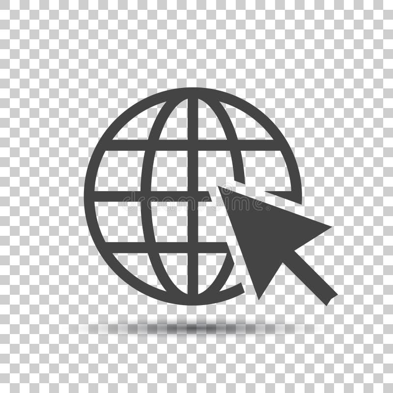 Пойдите к значку сети Иллюстрация вектора интернета плоская для вебсайта дальше иллюстрация штока
