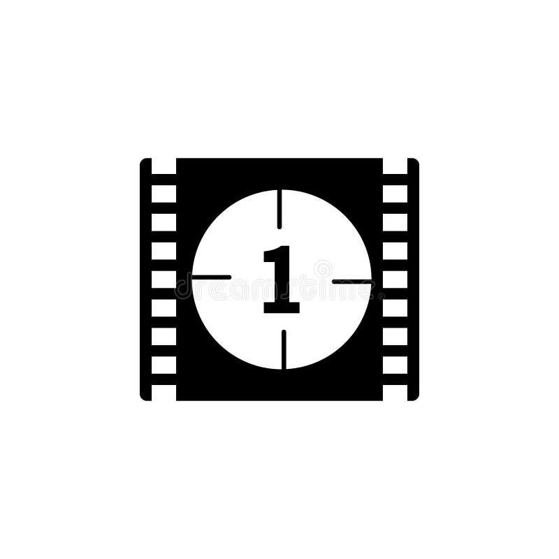 покажите значок отсчета кино Элемент значка кино Наградной качественный значок графического дизайна Знаки и значок собрания симво бесплатная иллюстрация