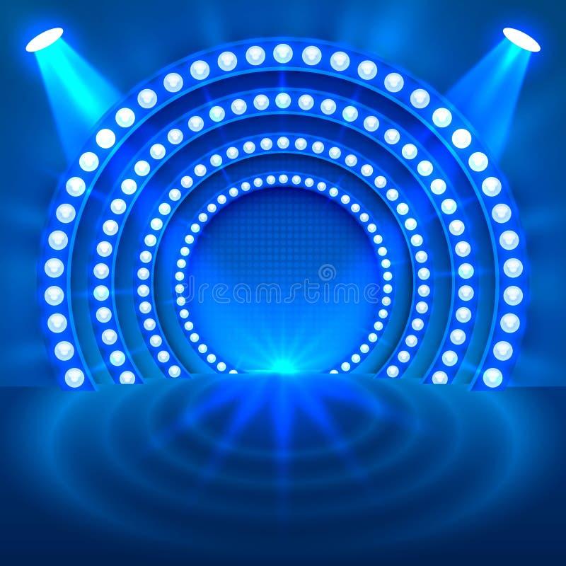 Покажите светлую предпосылку сини подиума бесплатная иллюстрация