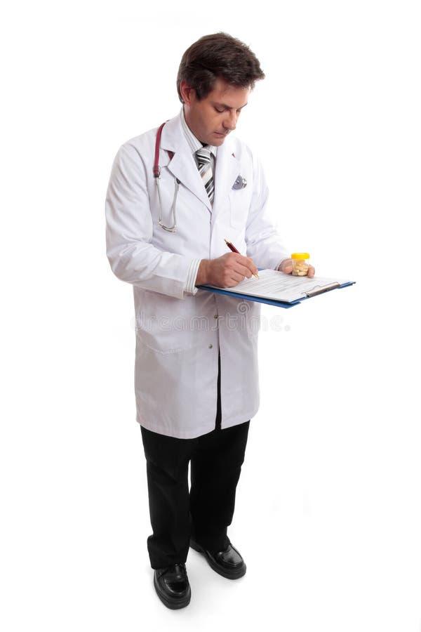 показатель пациента доктора вверх по сочинительству стоковые изображения