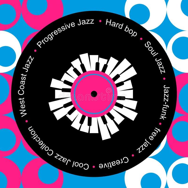 Показатель джаза и музыки син бесплатная иллюстрация