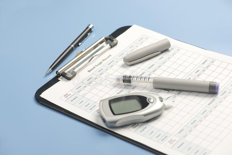 Показатель уровня сахара в крови стоковая фотография rf