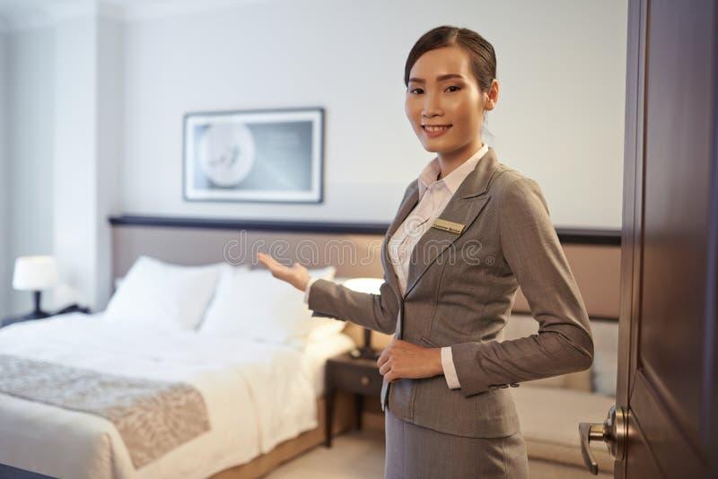 Показывать гостиничный номер стоковые изображения
