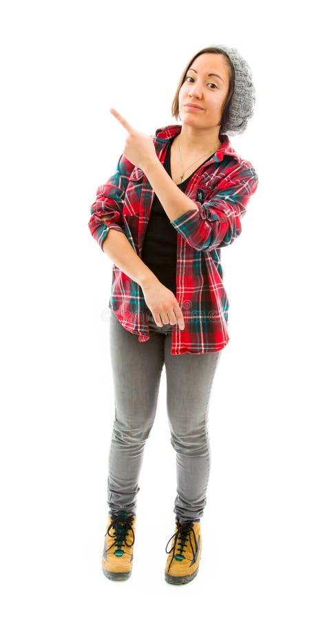 Download показывающ что-то детенышей женщины Стоковое Изображение - изображение насчитывающей сообщение, ориентации: 41651181