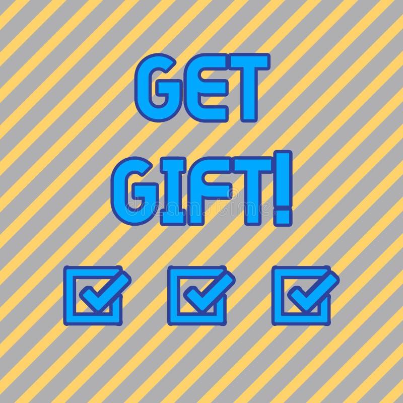 Показ знака текста получает подарок Схематическое фото что-то которое вы даете без получать что-нибудь в обмен безшовный иллюстрация штока